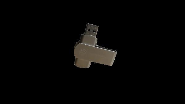 USB-Stick 32 GB, Material: Edelstahl, Design: HPS Gravur