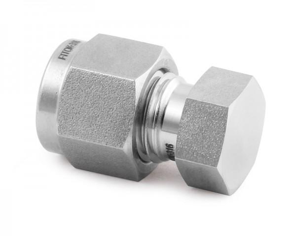 Rohrverschlussskappe, Edelstahl, 6 mm Klemmring