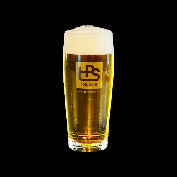 Bierglas Willibecher 0,3 L - Motiv: HPS ätzweiß