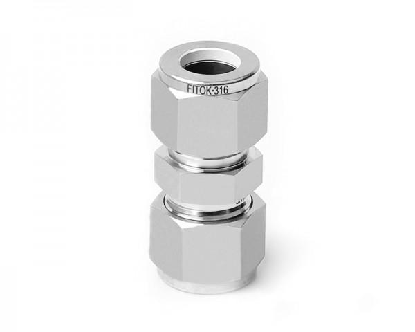 Verbinder, Edelstahl, 15 mm Klemmring, innere Bohrung 1 mm