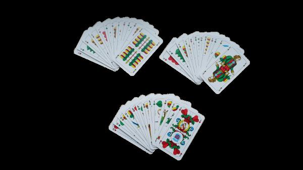 Spielkarten Schafkopf Tarock (bayerisches Bild) in Plastiketui - Tunierfähig